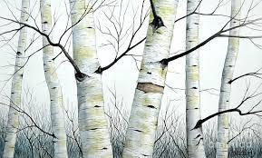 paintings of birch trees watercolor paintings birch trees paintings of birch trees