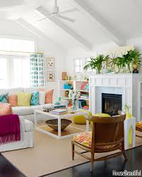 Small Picture Colorful and Retro Living Room House Beautiful Pinterest