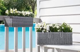 Balcony Fence balcony railing planters designs ideas home xmas white basket gray 5571 by xevi.us