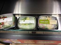 when i walked into the i was actually greeted with a cool case of salads they would be a good size for 2 3 people and sell for 5 each