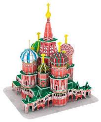 Купить Пазл <b>CubicFun Собор</b> Василия Блаженного (C239h), 92 ...