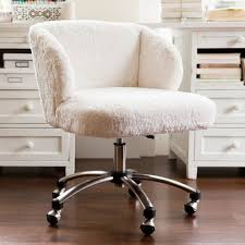 pretty design fur office chair amazing decoration ivory sherpa faux