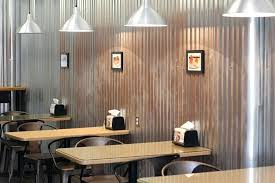corrugated metal interior walls sandwich interior seating tables aluminum wall corrugated metal corrugated metal panels
