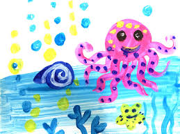 kids painting picture. Beautiful Painting Painting Animals For Kids  How To Draw A Octopus Easy  Art  YouTube Intended Kids Picture R