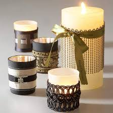 Ribbon-Wrapped Candles