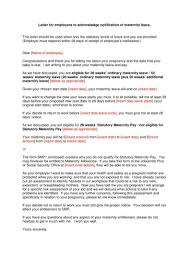 How To Write A Maternity Leave Letter For Work 6 Maternity Leave Letter Templates Pdf Free Premium Templates