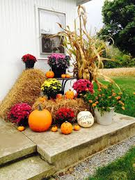 image of outdoor fall decorations ideas side home