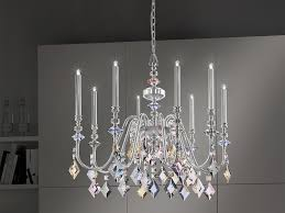 direct light metal chandelier with crystals chic 8 by masiero