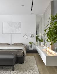 beautiful modern bedroom. Fireplace And Plants In Small Bedroom By Alexandra Fedorova Beautiful Modern