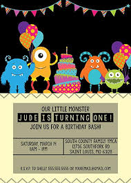 Birthday Invitation Pictures Extraordinary Amazon Customized Our LIttle Monster Birthday Invitation Toys