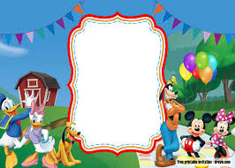 Free Mickey Mouse Template Download Free Printable Mickey Mouse Luau Invitation Template Free