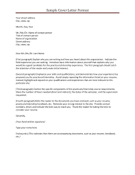 Gallery Of Letter Format Fir Letter Format Cover Letter And Resume