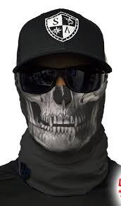 Tactical Black Skull Multi Purpose Face Shield Balaclava Bandana
