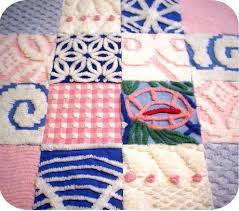 Vintage Chenille Quilt Squares - {michellepatterns.com} & Check out this pretty vintage chenille. I would love to have a chenille  quilt--especially with these cute squares from Chenille Patchwork. Adamdwight.com