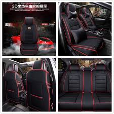 deluxe leather seat cover full set cushion 5 seats for car interior accessories