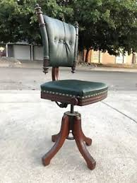 adjustable height chair. Image Is Loading Antique-Bankers-Chair-Mahogany-Leather-Adjustable-Height-c- Adjustable Height Chair