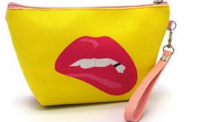 new fashion cartoon digital painting makeup bag nice makeup bags mini tote cosmetic bag