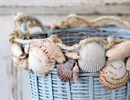 Seashell Home Decor  Basket Crafts Beach Chic Decor And DecoratingSeashell Home Decor