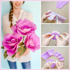 How To Make The Paper Flower Simple Paper Flowers Sugar Bee Crafts