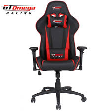 gt omega pro racing office chair black next red leather