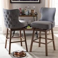padded swivel bar stools. Exellent Bar Grey ButtonTufted Upholstered Swivel Bar Stool Pair  Gradisca  RC Willey  Furniture Store In Padded Stools