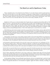 ra rzal law early childhood 4 activity 2 essay