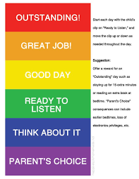 Printable Behavior Charts For Parents Printable Color Coded Behavior Chart Happiness Is Homemade
