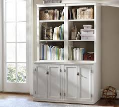 office bookcase with doors. office bookcase with doors logan antique white pottery barn f
