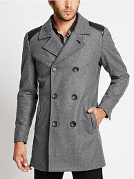 double ted wool blend peacoat