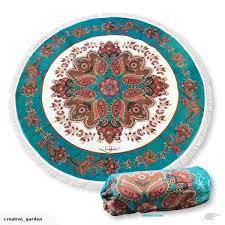 150cm outdoor round picnic rug mindful soul waterproof beach lisa pollock trade me