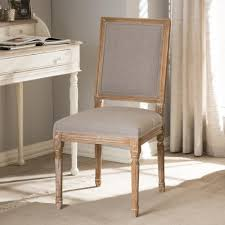 dining chairs upholstered. Beautiful Dining Baxton Studio Clairette Beige Fabric Upholstered Dining Chair To Chairs L
