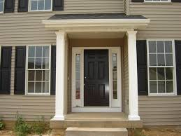 home front doorBlack And White Home Front Door With Clear Glass Fanlights