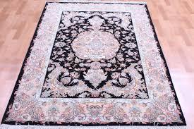 silk tabriz persian rug silk black tabriz carpet