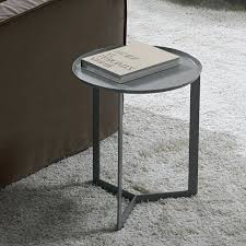 metal side table elegant outdoor metal side table with and wood bedside best round modern decoration