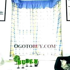 yellow striped curtains and white blue stripes outdoor