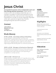 Jesus Christ Resume