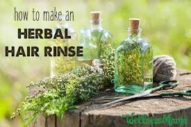 diy herbal hair rinse for shiny and strong hair