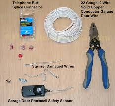 garage door wireHow to Repair Garage Door Safety Sensor Wires