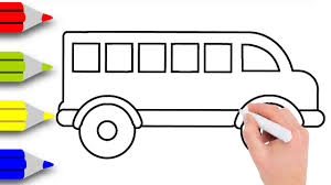 bus drawing for kids. Delighful Kids How To Draw School Bus Step By Learn Easy Darwing A For Kids To Drawing For