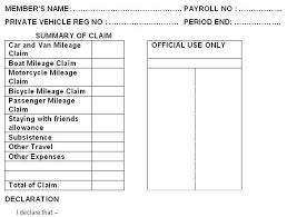 Car Mileage Claim Form Councillors Remuneration Allowances And Expenses Guidance