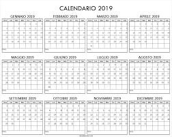 Calendario Anno 2019 Excel Ikbenalles