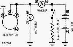 repair manuals datsun mitsubishi alternators  circuit for alternator output test