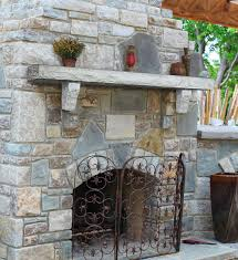 outdoor fireplace mantel shelves