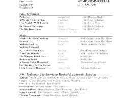 Theatre Resume Adorable Theatre Resume Templates Theatre Resume Templates Theatre Resume