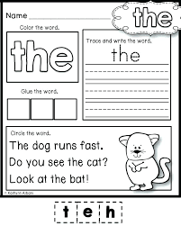 Free Printable Reading Readiness Worksheets For Kindergarten Sight ...