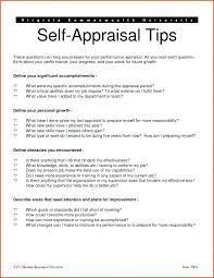 Employee Self Evaluation Example Template Appraisal Examples For ...