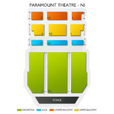Paramount Theater Asbury Park Seating Chart Paramount Theatre Asbury Park 2019 Seating Chart