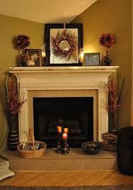 **I like the corner Fire Place**Fall Fireplace decorating ideas.