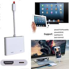 lightning to digital av tv hdmi cable adapter kit for iphone 5 6 7 ipad mini