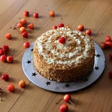 Russian Honey Cake with Walnuts Recipe